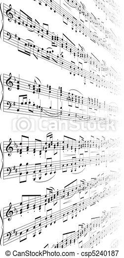 note, musica, struttura - csp5240187