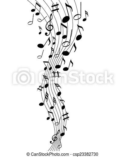 note, musica - csp23382730