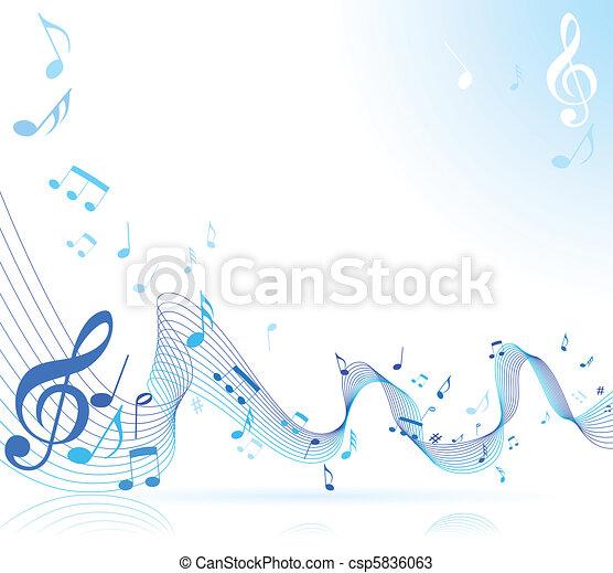 note, musica - csp5836063