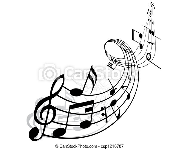 note, musicale - csp1216787