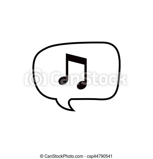 Note Musique Bulle Graphique Illustration Note Vecteur
