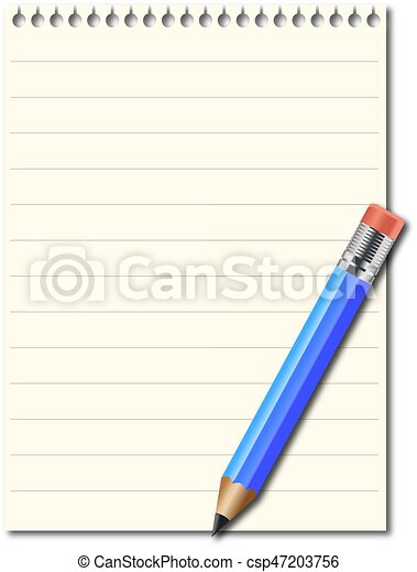 Note pad and pencil - csp47203756