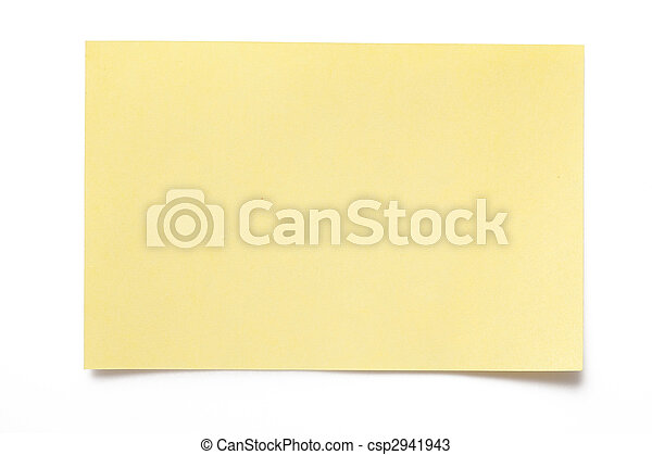 note papel, amarillo - csp2941943
