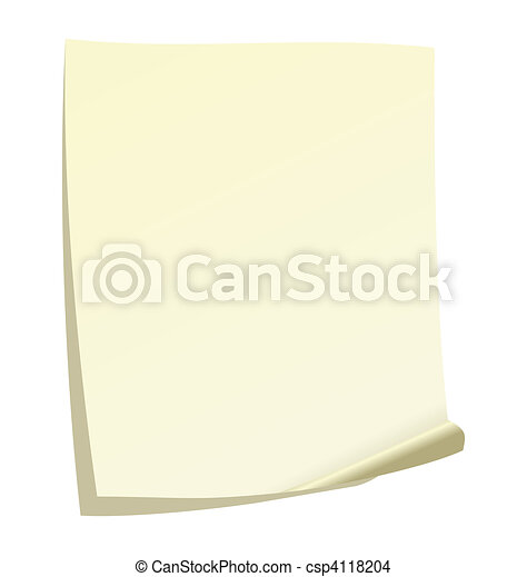 note papel - csp4118204