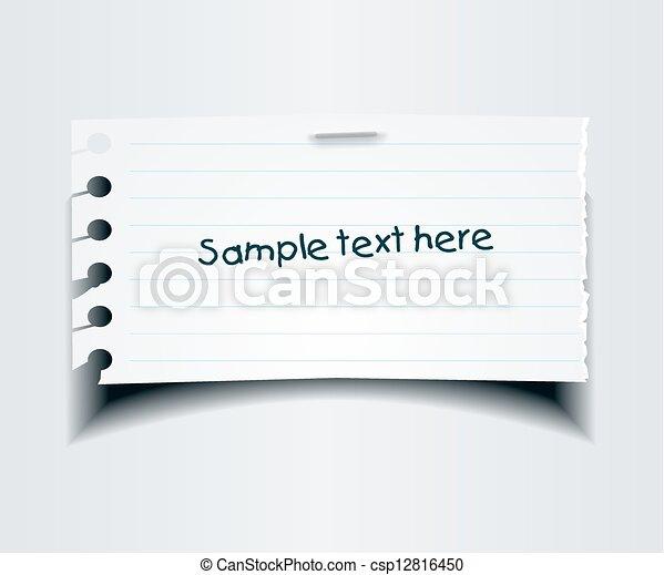 Note paper - csp12816450