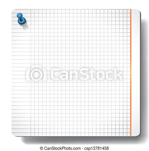 Note paper  - csp13781458