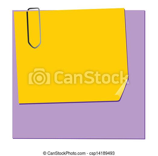 note paper - csp14189493