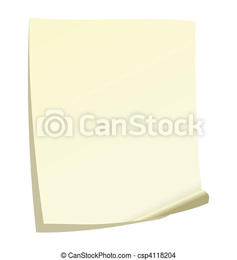 Note paper - csp4118204