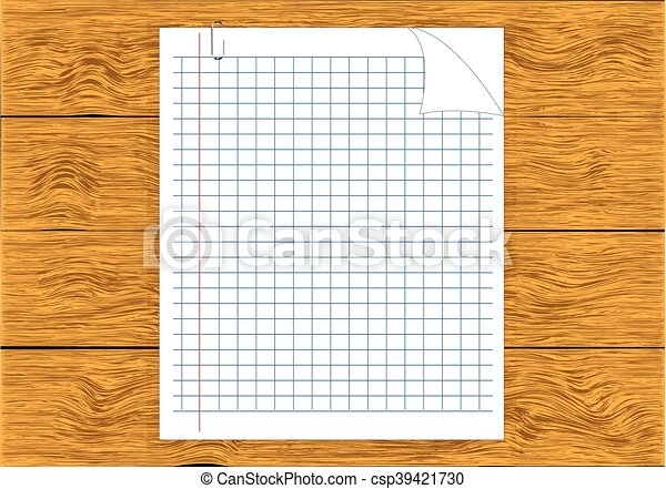Note Paper isolated on wood - csp39421730