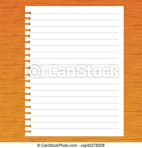 Note paper on wooden background - csp42378208