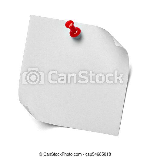 note paper - csp54685018