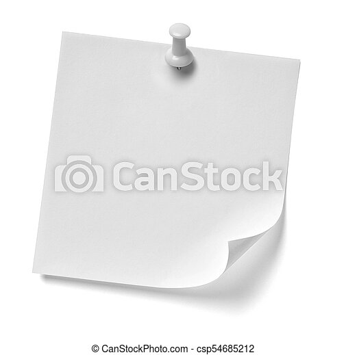 note paper - csp54685212