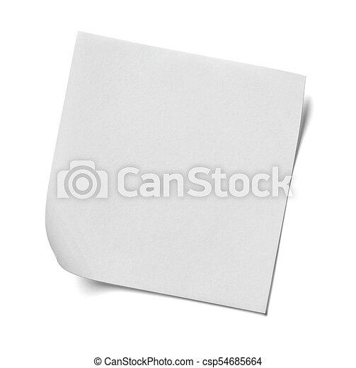 note paper - csp54685664