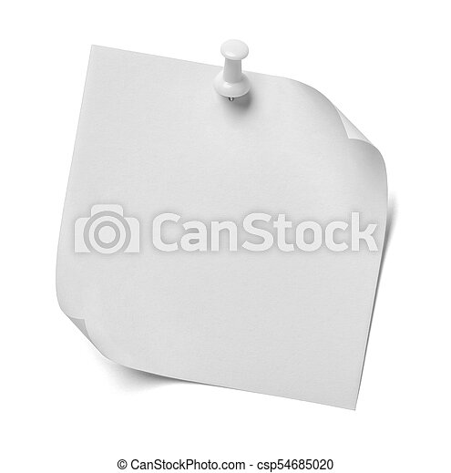 note paper - csp54685020