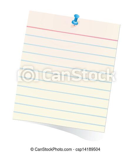 note paper - csp14189504