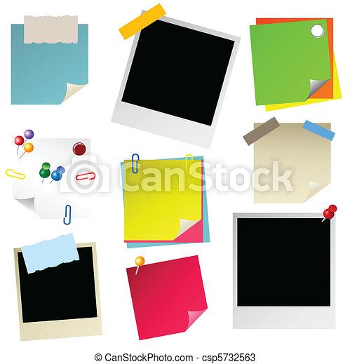 note, papier, sticker, postit, phot - csp5732563