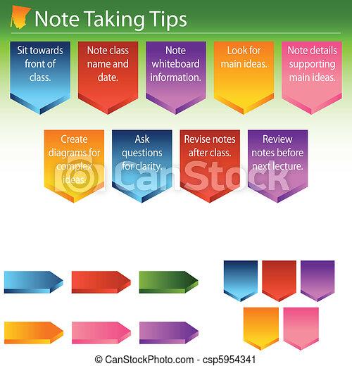 Note Taking Tips - csp5954341