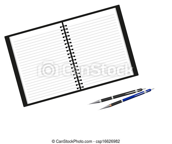 Notebook and pen - csp16626982