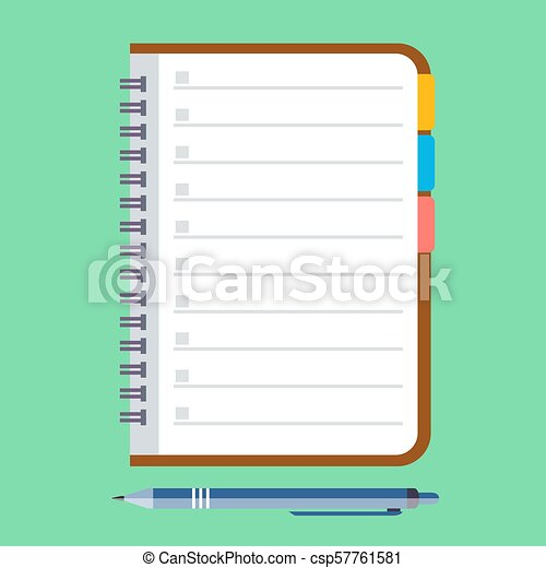 Notebook and pen - csp57761581