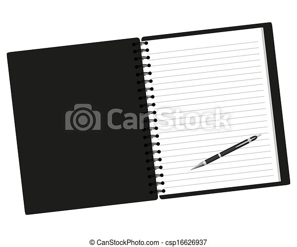 Notebook and pen - csp16626937