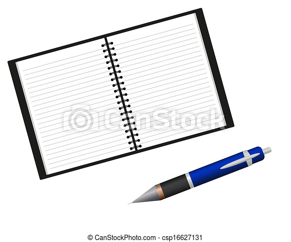 Notebook and pen - csp16627131
