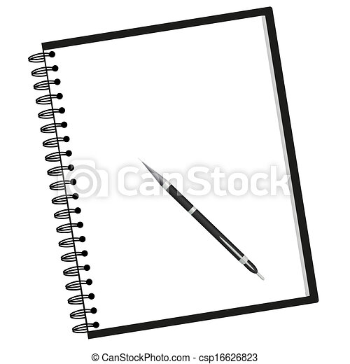Notebook and pen - csp16626823