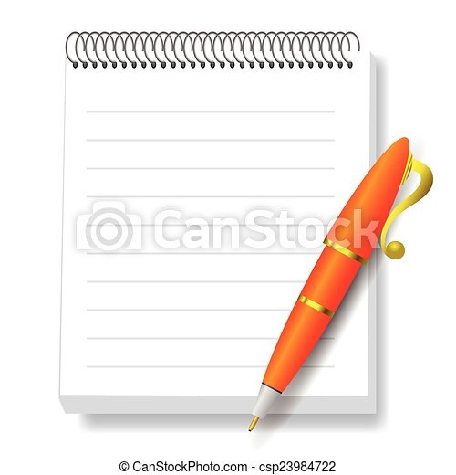 notebook and pen - csp23984722