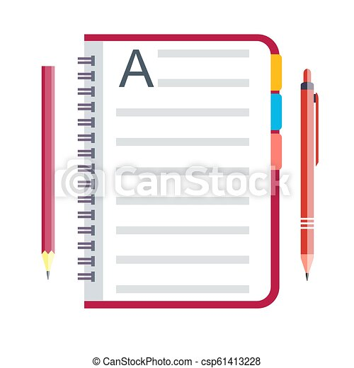 Notebook and pen - csp61413228