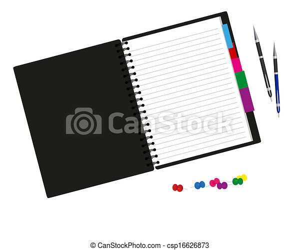 Notebook and pen - csp16626873
