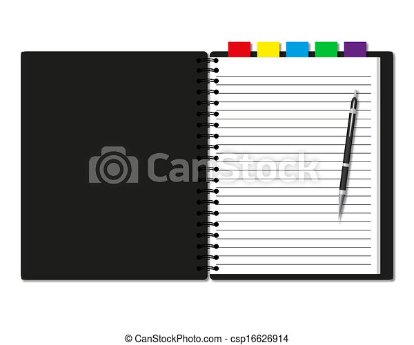 Notebook and pen - csp16626914