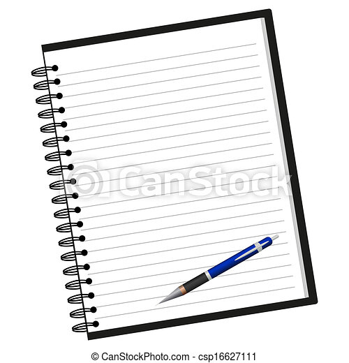 Notebook and pen - csp16627111