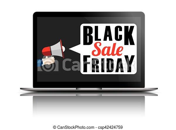 Notebook Black Friday Mirror - csp42424759