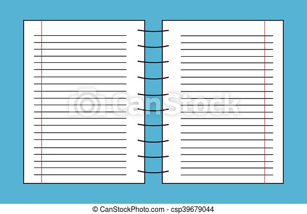 notebook blank page with double page lines