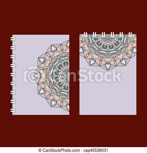 Notebook Cover Design Drawing Mandala Lace Ornament