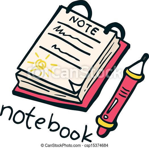 notebook doodle - csp15374684