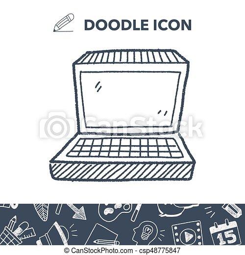 notebook doodle - csp48775847