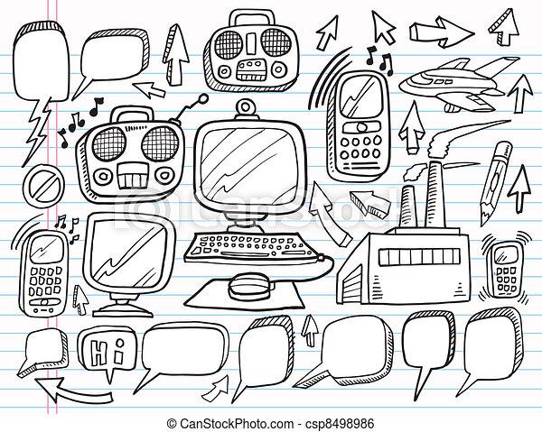 Notebook Doodle Sketch Vector Set - csp8498986