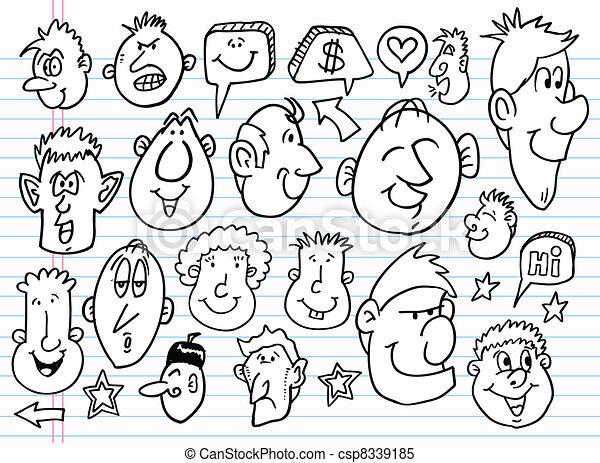 Notebook Doodle Sketch vector set - csp8339185