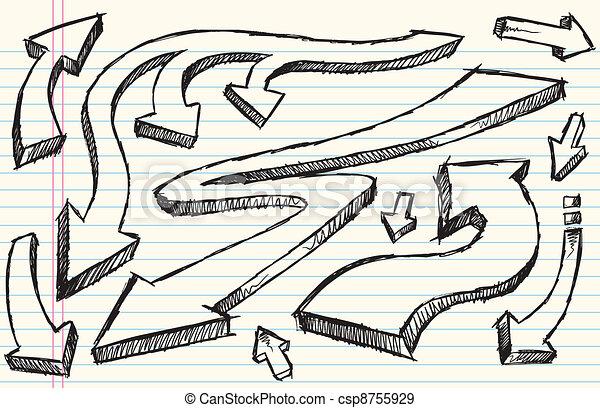 Notebook Doodle Sketch Vector Set - csp8755929