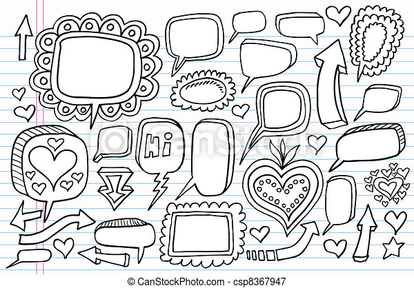 Notebook Doodle Sketch vector set - csp8367947