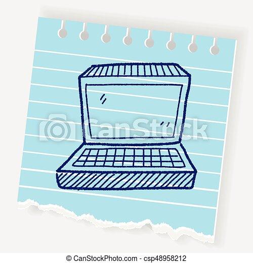 notebook doodle - csp48958212