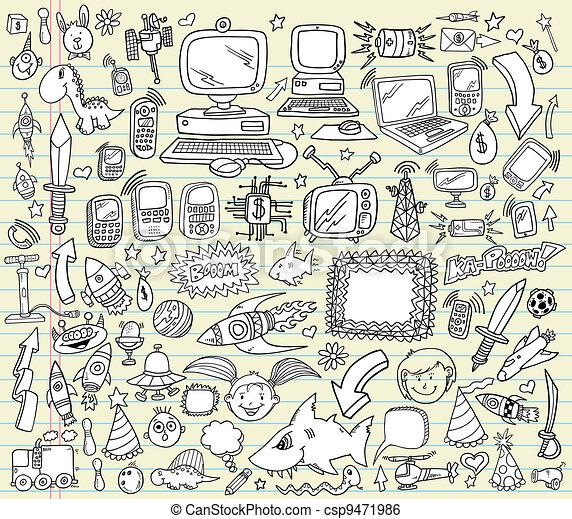 Notebook Doodle Vector Set - csp9471986