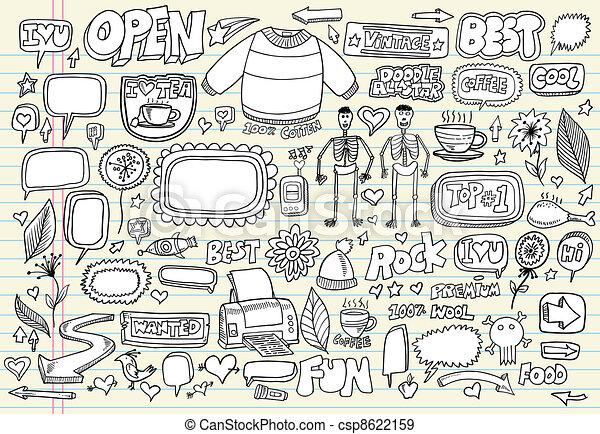 Notebook Doodle Vector Set - csp8622159