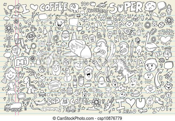Notebook Doodle Vector set - csp10876779