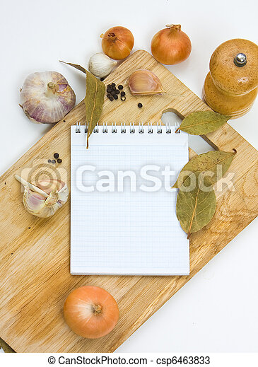 notebook for culinary note - csp6463833