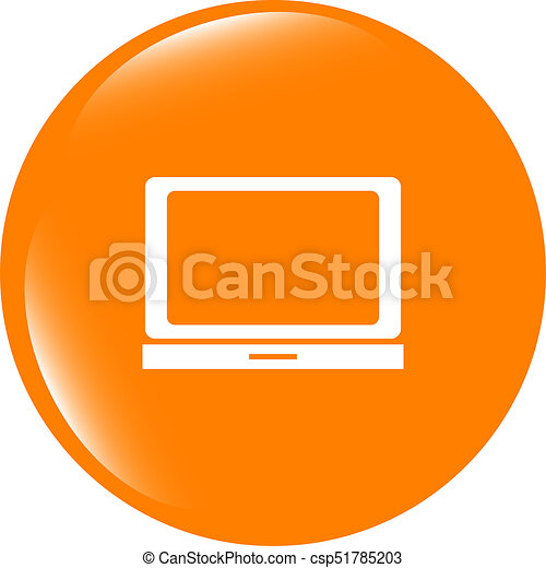 Notebook icon on glossy web round button - csp51785203