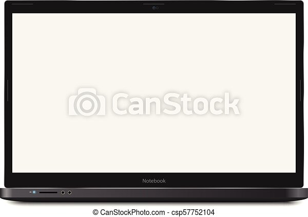 notebook laptop template notebook vector realistic ilustration with