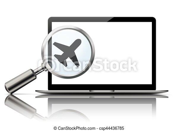 Notebook Loupe Mockup Mirror Jet - csp44436785