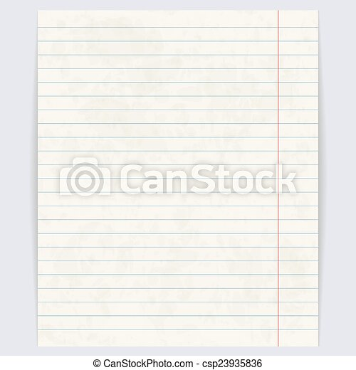School notebook paper background vector illustration notebook paper background csp23935836 altavistaventures Image collections