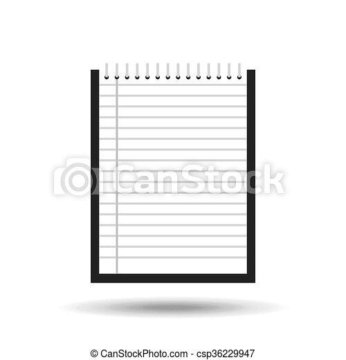notebook paper design vector illustration eps10 graphic rh canstockphoto com notebook paper template vector lined notebook paper vector